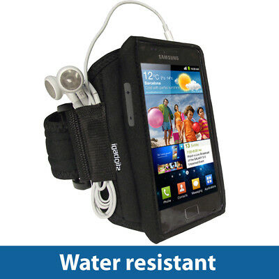 Black Sports Armband for Samsung Galaxy S 2 II i9100 Android Gym Running Jogging