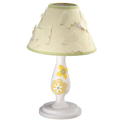 Bright Blossoms Butterflies and Flowers Kids Girls Lamp Base & Shade By Cocalo