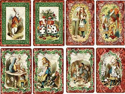 Vintage inspired Alice in Wonderland small Christmas card scrapbooking crafts