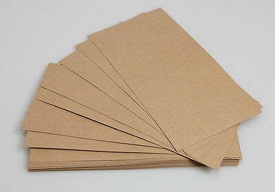 Kraft Recycled 275gsm DL size Card (100 sheets) ** Ideal for printing**