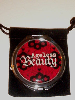 DOUBLE MIRROR COMPACT   AGELESS BEAUTY    GREAT FOR HALLOWEEN!  H3