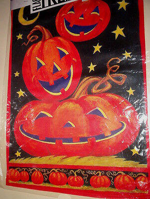 "JACK O'LANTERNS  FLAG  13"" x 18""   GREAT FOR HALLOWEEN!  H3"