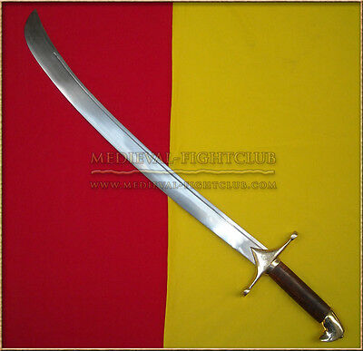 Scimitar Sword with wooden grip & brass pommel