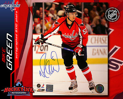 Mike Green SIGNED Washington Capitals 8X10 Photo - 70439 Detroit Red Wings f2582bf9379f
