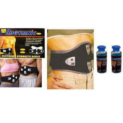 Quad 6 Pack Abs Muscle Tummy Toner Ab Belt Exercise Toning Absonic W/2 Free Gel