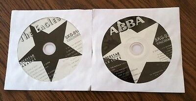 2 Cdg Karaoke Discs 1970'S Hits Of Abba And The Eagles Cd+G New Oldies,Rock,Pop