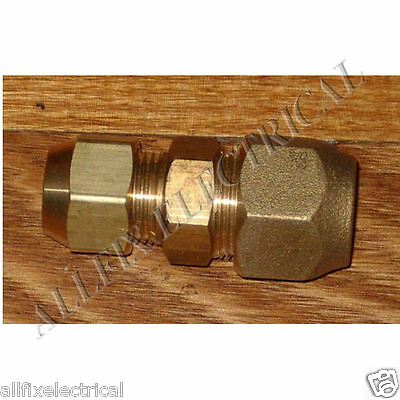 """Brass 3/4"""" to 5/8"""" Reducing Union With Flare Nuts - Part # RF707KIT"""