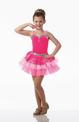 IT'S MY PARTY Ballet Tap Dress Dance Costume Child X-Small & Large New