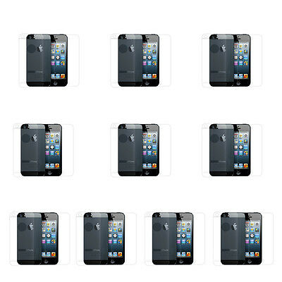 10x New Clear Anti Scratch LCD Screen Protector Front and Back for iPhone 5