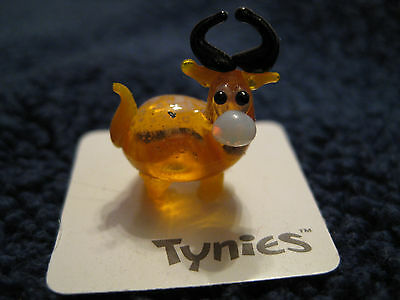 TIM Yellow OX animal TYNIES Tiny Glass Figure Figurines Collectibles 0037