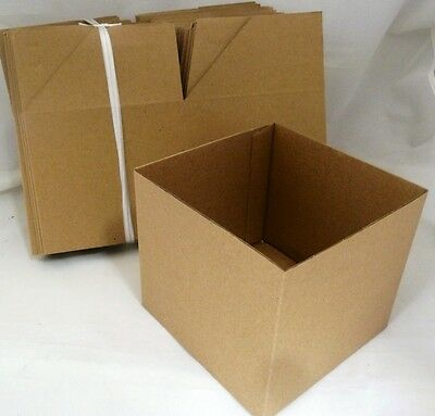 Coloured Boxes for gifts-25 Boxes 13cm sq - no lids **ONE COLOUR** KRAFT BROWN