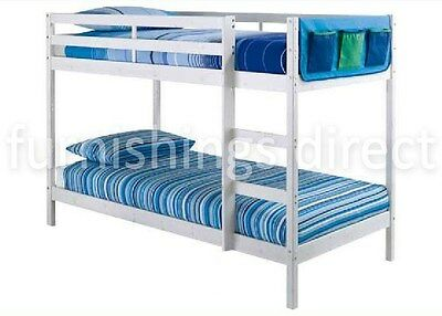 Modern Design 2Ft6 Shorty White Pine Bunk Bed With 2 X Mattresses