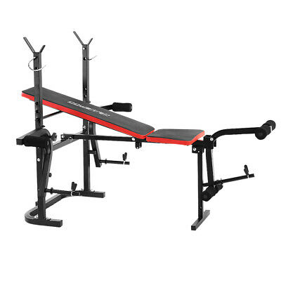 Multistation Bench Press Plus Barbell And Weights Home Gym Exercise Equipment