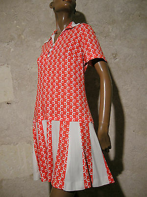 Chic Vintage Robe 70S Vtg Dress Mod Graphic Scooter 1970 Kleid Abito (40)
