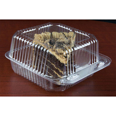 """6"""" x 6"""" x 3"""" Clear Hinged Lid Plastic Container 500/CS  -  FAST Shipping !!!"""