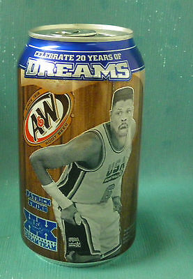 Usa Basketball 1992 Dream Team Soda Can Unopened Knicks Patrick Ewing Olympics