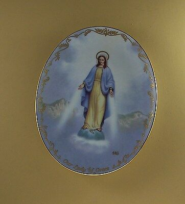 Visions of our Lady OUR LADY OF GRACE Plate #5 Religious Catholic  MIB + COA