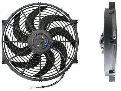"Aeroflow 14"" Curved Blade 12V Electric Reversable Cooling Thermo Fan Af49-1002"