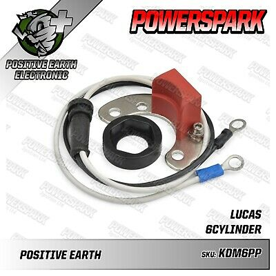 Lucas DM6 Positive Earth Electronic Conversion Ignition Kit & Red Rotor Arm
