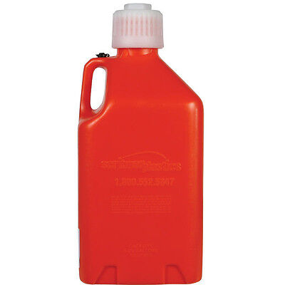 Scribner Utility Jug Fuel Water Can Motorsport Container Red Plastic Race Pit