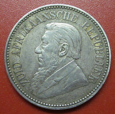 """South Africa 2 1/2 Shilling 1896 ZAR """"The Father"""" Silver (MT6 )"""