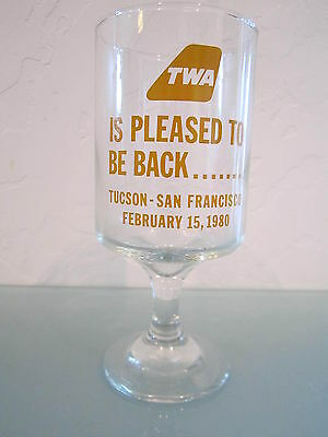 TWA Promotional Glass 1980- Great Condition