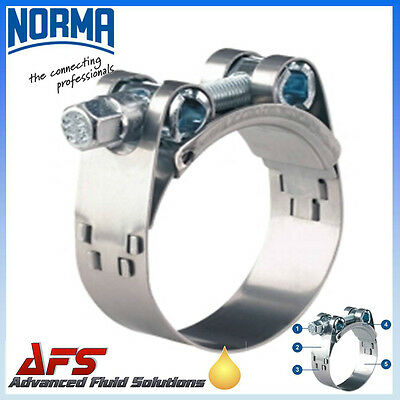 W2 NORMA Stainless Steel Heavy Duty Hose Clip Exhaust Pipe Turbo Clamps Mikalor
