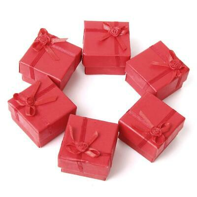 Bulk 24 Retail Red Cardboard Ring Earring Necklace Jewelry Display Gift Cace Box