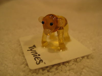 ROD Gorilla Monkey yellow TYNIES Tiny Glass Figure Figurines Collectibles 0073