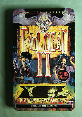 Tin Steel Case EVIL DEAD II  Numbered THX Limited Edition DVD Box Set NEW