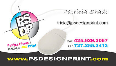 5000 FULL COLOR Business Cards - 1 Sided White Standard Gloss
