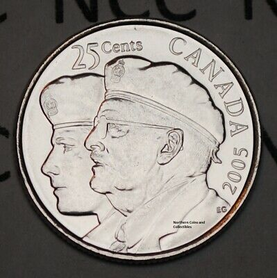 Canada 2005 P Veteran 25 cents Nice UNC from roll - BU Canadian Quarter