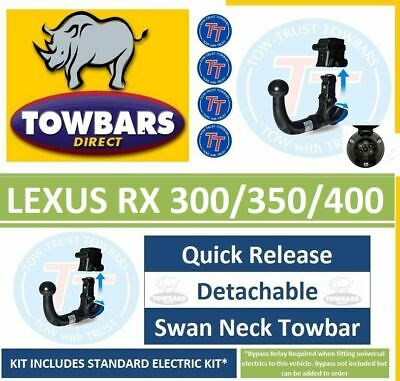 Detachable Swanneck Towbar for Lexus RX300 RX350 & RX400h 2003 to 2009 Tow Bar