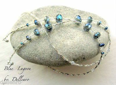 ✫Blue Lagoon✫ Crystal Beaded Eyeglass Glasses Spectacles Chain Holder Cord