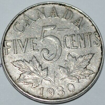 Canada 1930 5 Cents George V Canadian Nickel