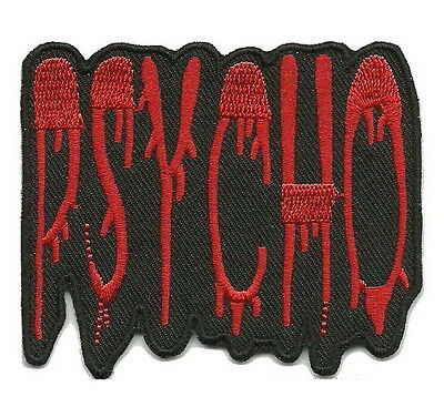 PSYCHO PSYCHOBILLY PUNK ROCK Embroided Iron on Patches