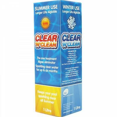 Clean N Clear Swimming Pool Winter & Summer Algaecide Pool Chemicals Cleaner