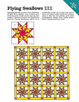 9 Quilt Templates Flying Swallows 8 Bonesteel Mexican Star