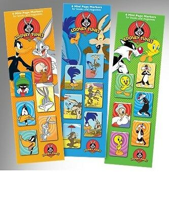 Looney Tunes Mini Magnetic Page Markers BOOKMARKS Bugs Bunny Daffy Duck
