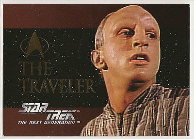 Star Trek TNG Next Generation Season 1 Embossed Chase Card SP6 The Traveler