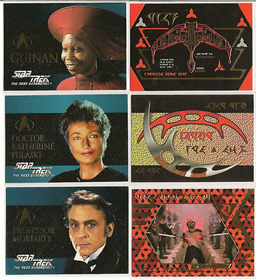 Star Trek TNG Next Generation Season 2 Embossed Insert Chase Card Set S7-S12
