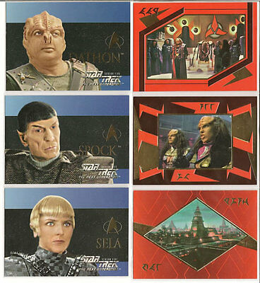 Star Trek TNG Next Generation Season 5 Embossed Insert Chase Card Set S25-S30