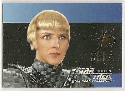 Star Trek TNG Next Generation Season 5 Embossed Chase Card S30 Sela