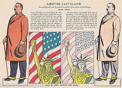 Grover Cleveland Statue Of Liberty Gift Vintage Graphic Illustration Print