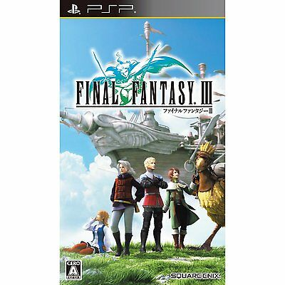 NEW PSP Final Fantasy III 3 JAPAN Sony PlayStation Portable import Japanese game
