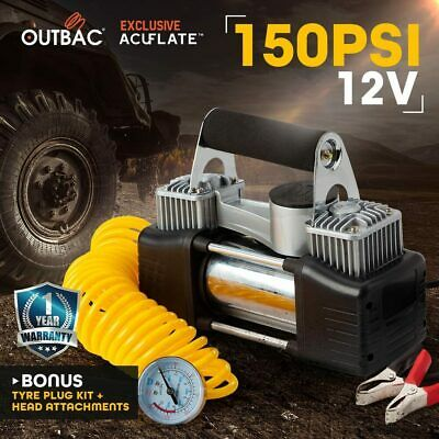 OUTBAC 12v Car Air Compressor 150PSI Tyre Deflator 4WD Portable Inflator 80L/min