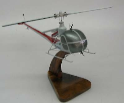 UH-12 Hiller Helicopter UH12 Airplane Wood Model Free Shipping Regular