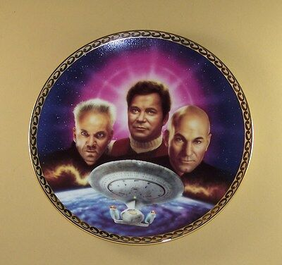 STAR TREK Generations THE ULTIMATE CONFRONTATION Plate +COA TV Series Hamilton
