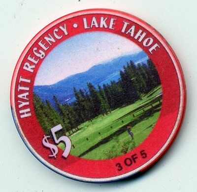 HYATT REGENCY  LAKE TAHOE 3 0F 5  CASINO CHIP