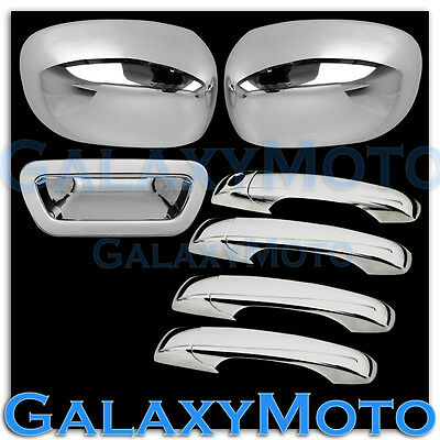 05-08 Dodge Magnum Chrome Mirror+4 Door Handle W/O PSG KH+Tailgate Cover Combo